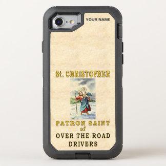 St. CHRISTOPHER  (Patron Saint of OTR Drivers) OtterBox Defender iPhone 7 Case