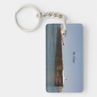 St. Clair rectangle acrylic key chain
