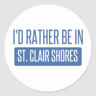 St. Clair Shores Classic Round Sticker