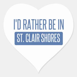 St. Clair Shores Heart Sticker