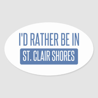 St. Clair Shores Oval Sticker