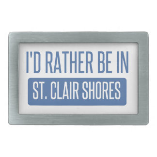 St. Clair Shores Rectangular Belt Buckles
