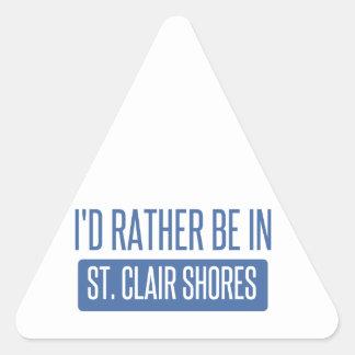 St. Clair Shores Triangle Sticker