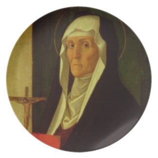 St. Clare, c.1485-90 (tempera on panel) Party Plate