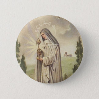 St. Clare of Assisi 2 Inch Round Button