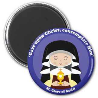 St. Clare of Assisi 2 Inch Round Magnet