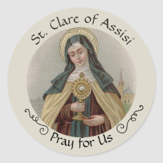 St. Clare of Assisi Classic Round Sticker