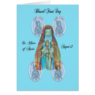 St. Clare of Assisi Feast Day Card