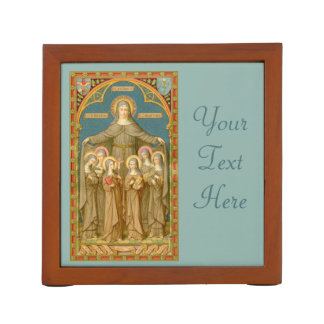 St. Clare of Assisi (front) with Nuns (back) Desk Organizer