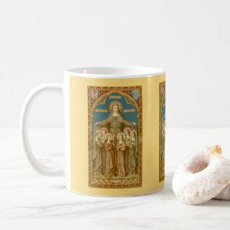St. Clare of Assisi & Nuns (SAU27) Coffee Mug 2.3