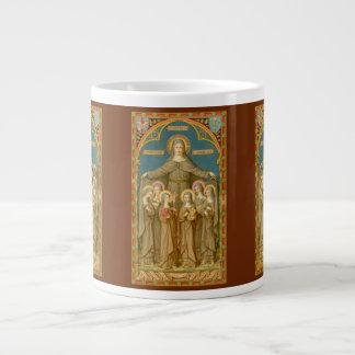 St. Clare of Assisi & Nuns (SAU27) XL Coffee Mug 3