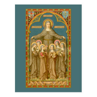 St. Clare of Assisi & Nuns (SAU 027) Postcard 4