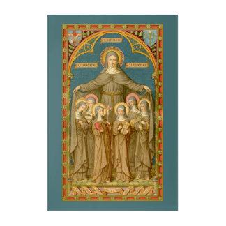 "St. Clare of Assisi & Nuns (SAU 27) 24""x36 Acrylic Print"