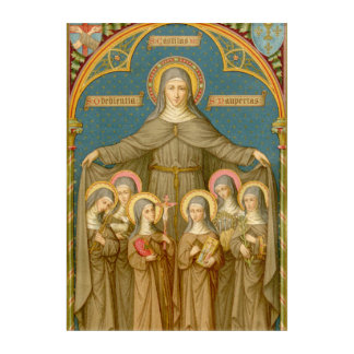 St. Clare of Assisi & Nuns (SAU 27) Acrylic Wall Art