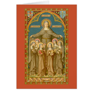 St. Clare of Assisi & Nuns (SAU 27) Greeting Card