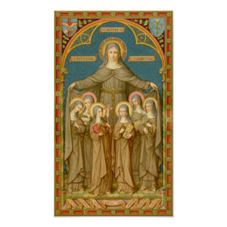 St. Clare of Assisi & Nuns (SAU 27) Poster