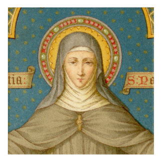 "St. Clare of Assisi (SAU 027) 12""x12"" or 10""x14"" Acrylic Wall Art"