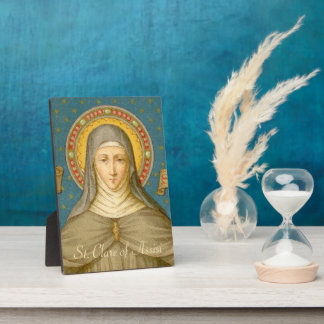 "St. Clare of Assisi (SAU 027) 5""x7"" Plaque"
