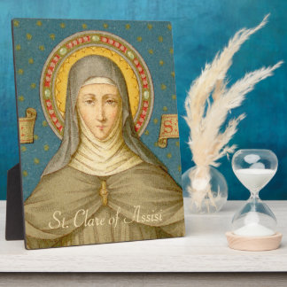 "St. Clare of Assisi (SAU 027) 8""x12"" Plaque"