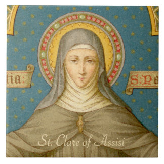 St. Clare of Assisi (SAU 027) Ceramic Tile 1