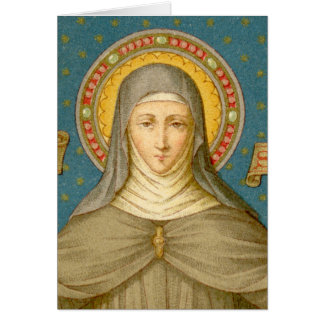 St. Clare of Assisi (SAU 027) Greeting Card