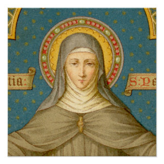 "St. Clare of Assisi (SAU 27) 16""x16"" or smaller Poster"