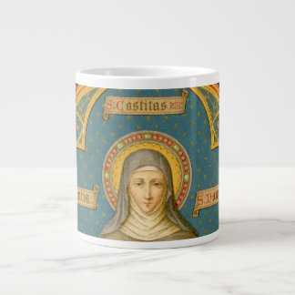 St. Clare of Assisi & Scrolls of Vows (SAU 027) XL Large Coffee Mug