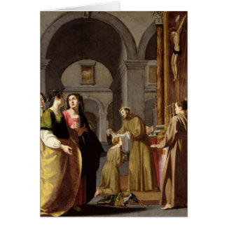 St. Clare Receiving the Veil from St. Francis Greeting Card