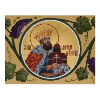 St. Constantin Brancoveanu Prayer Card Postcard