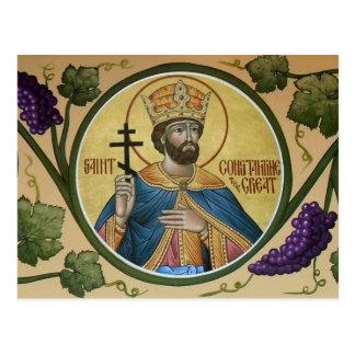 St. Constantine the Great Prayer Card Postcard