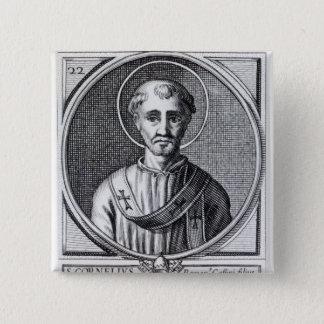 St. Cornelius 2 Inch Square Button