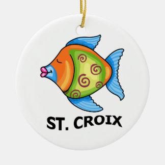 St Croix Ceramic Ornament