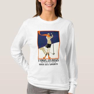 St. Croix Switzerland Skiing Poster T-Shirt