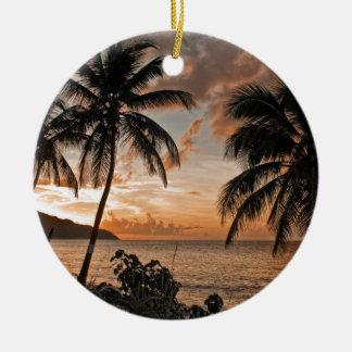 St. Croix VI Sunset Ceramic Ornament