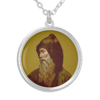 St. Cyril the Monk (M 002) Silver Plated Necklace