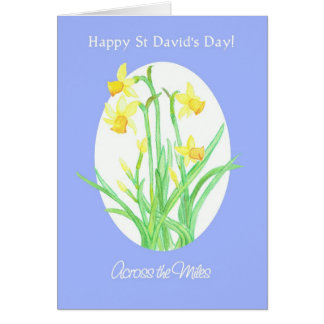 St David's Day Daffodils Card, Across the Miles Card