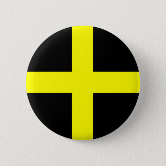 St. David's Flag Wales Welsh 2 Inch Round Button