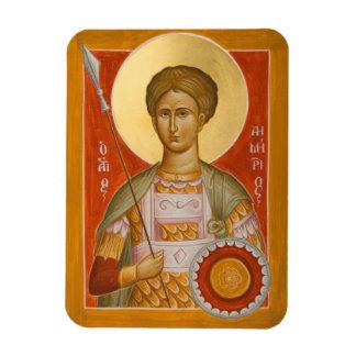 St Dimitrios Icon Magnet