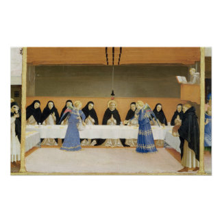 St. Dominic and his Companions Fed by Angels Poster