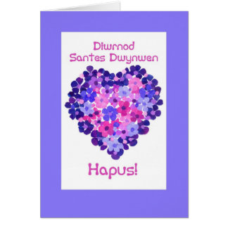 St Dwynwen s Day Heart of Flowers Welsh Greeting Cards