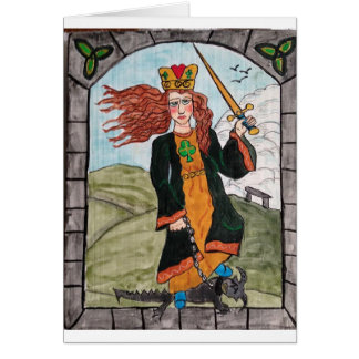 St Dymphna from the Retablo created by KK Hannegan Card