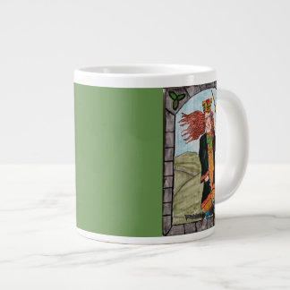 St Dymphna, Patron Saint of Mental Afflictions Large Coffee Mug