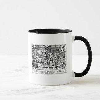 St. Eligius  as a goldsmith in his workshop Mug
