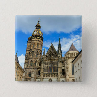 St. Elisabeth Cathedral in Kosice, Slovakia 2 Inch Square Button