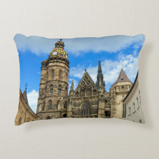 St. Elisabeth Cathedral in Kosice, Slovakia Accent Pillow