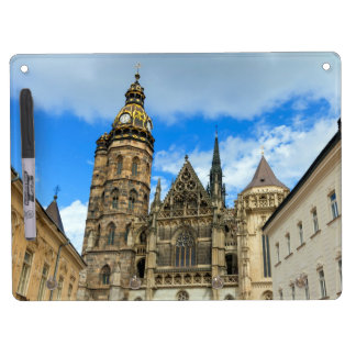 St. Elisabeth Cathedral in Kosice, Slovakia Dry Erase Board With Keychain Holder