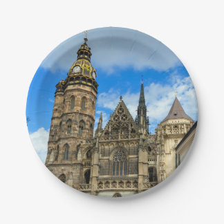 St. Elisabeth Cathedral in Kosice, Slovakia Paper Plate