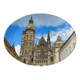 St. Elisabeth Cathedral in Kosice, Slovakia Porcelain Serving Platter