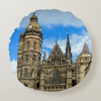 St. Elisabeth Cathedral in Kosice, Slovakia Round Pillow