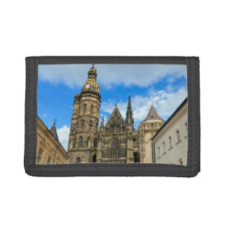 St. Elisabeth Cathedral in Kosice, Slovakia Tri-fold Wallets